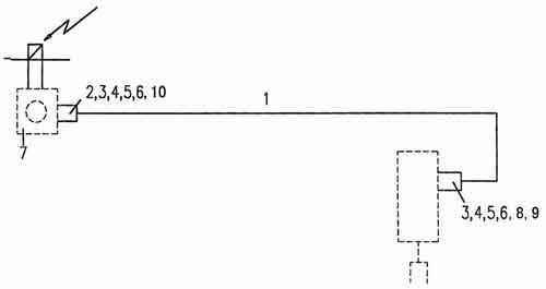 Схема привода блокировки дифференциала 1 мостов Howo.